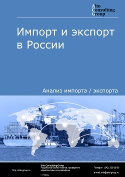 Импорт и экспорт моторных транспортных средств, предназначенных для перевозки 10 и более человек в России в 2018 г.