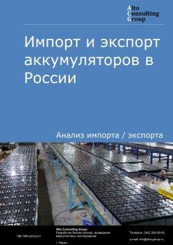 Импорт и экспорт аккумуляторов в России в 2018 г.