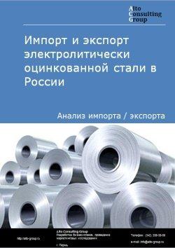 Импорт и экспорт электролитически оцинкованной стали в России в 2018 г.